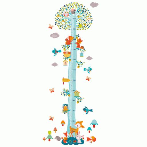 Djeco - Magasságmérő falmatrica - Az erdő barátai