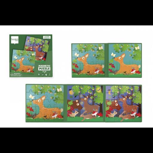 Mágneses puzzle könyv - Erdő