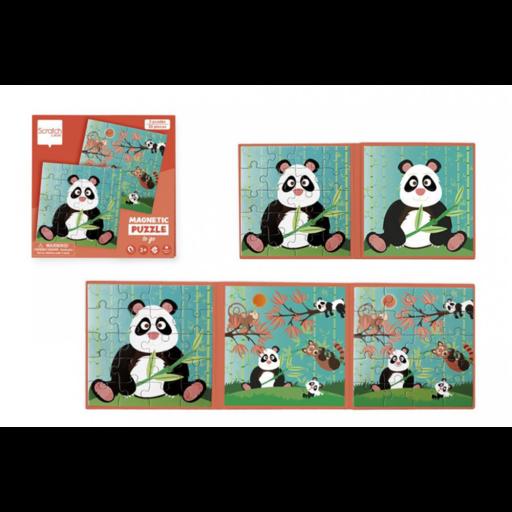 Mágneses puzzle könyv - Panda