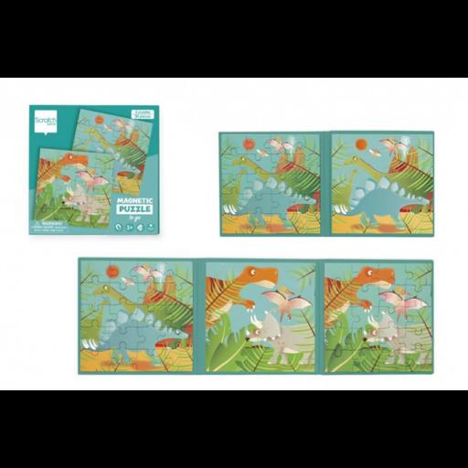 Mágneses puzzle könyv - Dinók