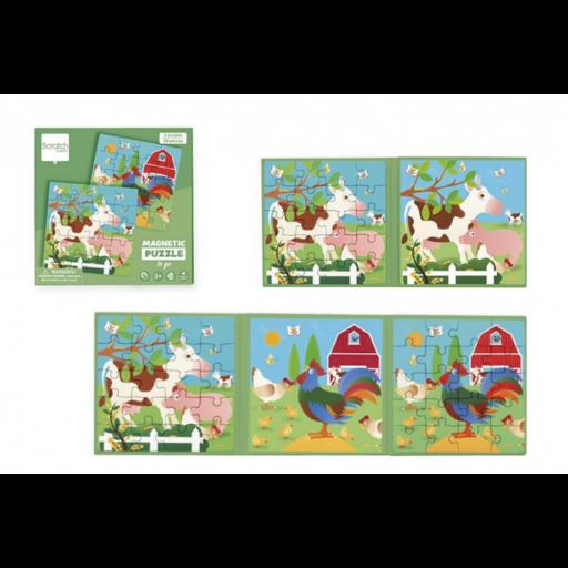 Mágneses puzzle könyv - Farm
