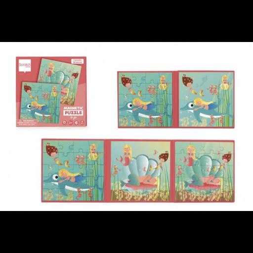 Mágneses puzzle könyv - Sellők