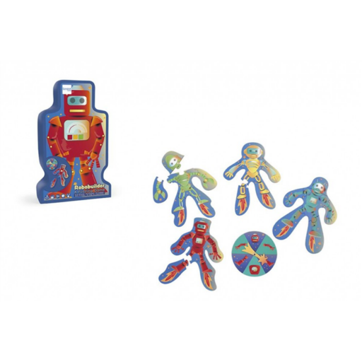 Fejlesztő kirakós társasjáték - Robotok