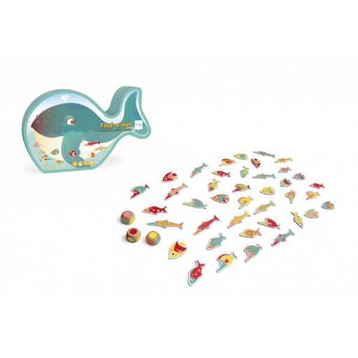 Találd meg a halat! színpárosító társasjáték