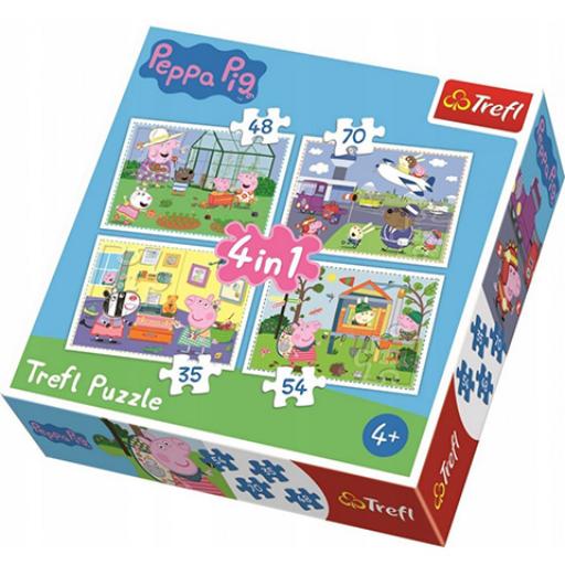 Peppa malac 4 az 1-ben puzzle