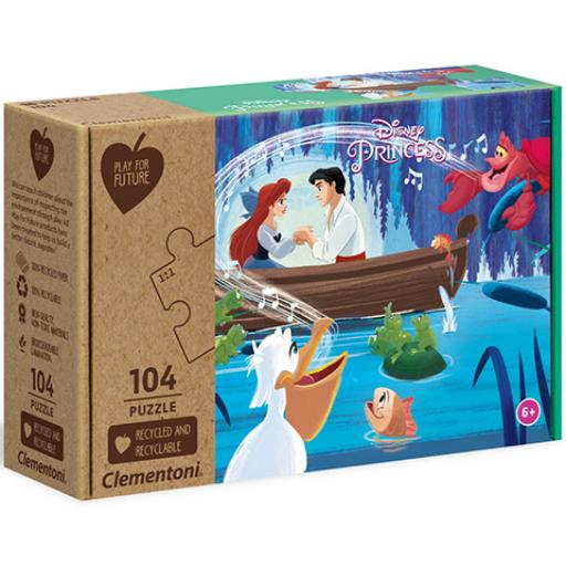 Clementoni - Disney hercegnők - Ariel, a kis hableány - 104 db-os puzzle