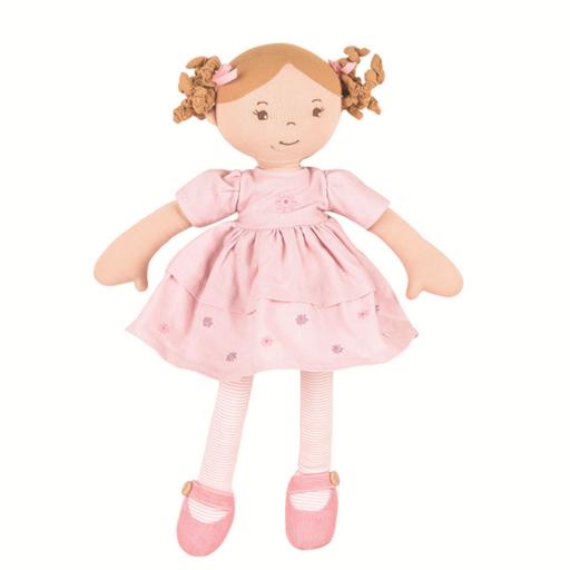 Amelia – Barna haj/ rózsaszín ruhában