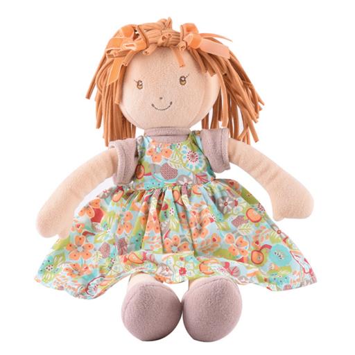 Libby Lu – Barna haj/ nyomott narancssárga ruha