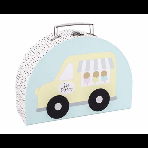 Tároló és játékbőrönd - fagyiskocsi - nagy