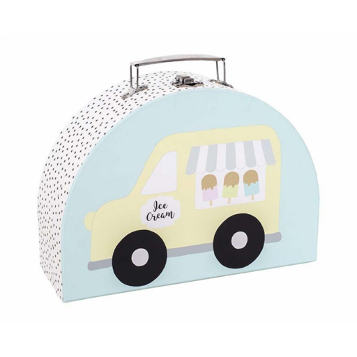Tároló és játékbőrönd - fagyiskocsi - kicsi