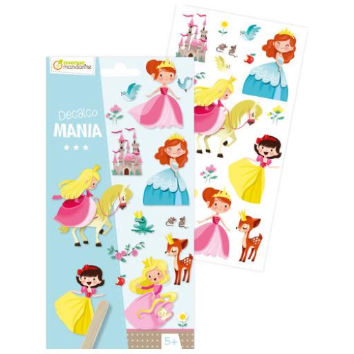Decalco Mania – Hercegnők satírozós matrica - 20 db