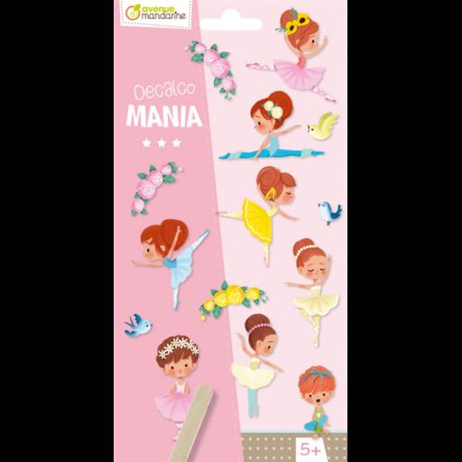 Decalco Mania – Táncoló lányok satírozós matrica - 20 db