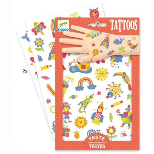Djeco - Tetováló matricák - Cuki