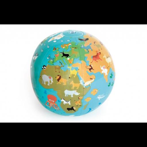 Felfújható földgömb labda - 30 cm