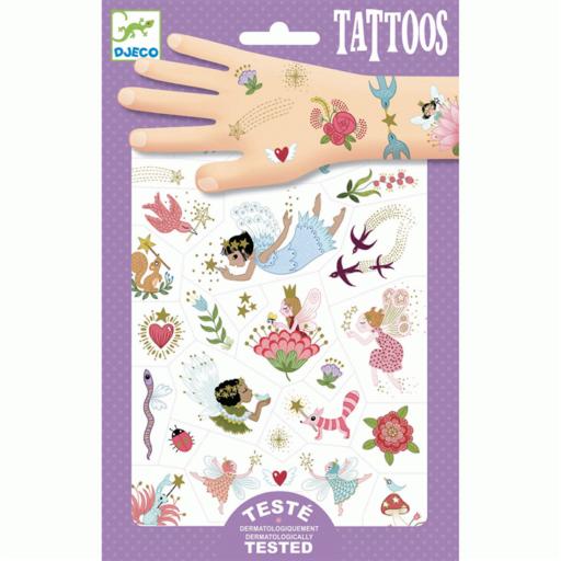 Djeco - Tetováló matricák - Tündérek