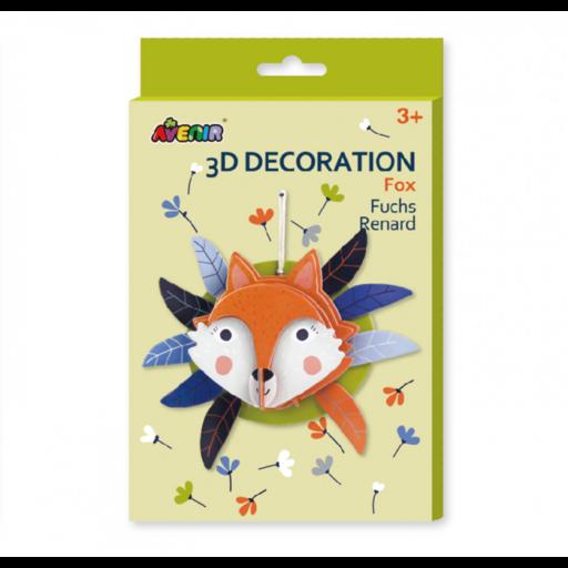 Avenir - 3D dekorációs puzzle - Róka