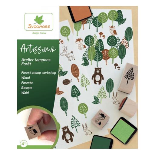 Fa nyomdakészlet - Erdő