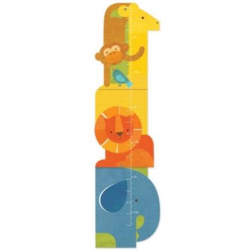 Petit Collage 100% organikus magasságmérő - szafari