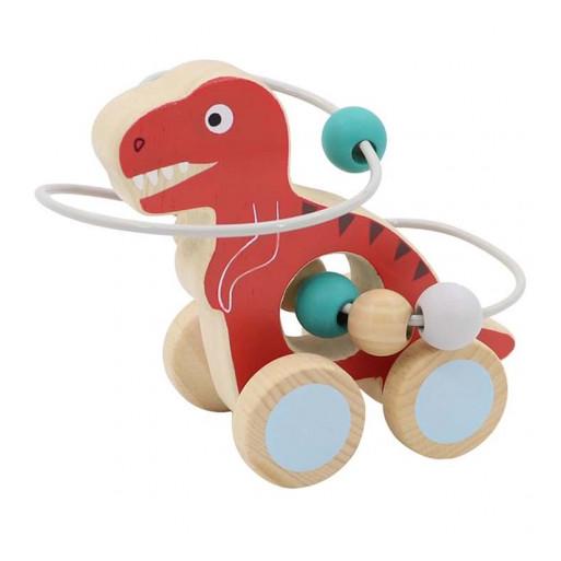 Gurulós golyóvezető (piros Tirannoszaurusz)