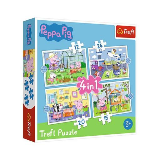 Trefl - Peppa malac nyaralási emlékei 4 az 1-ben puzzle