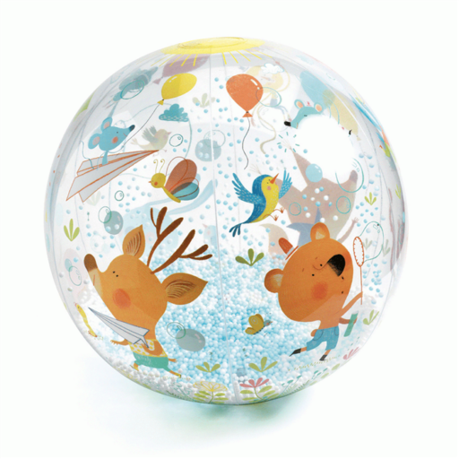Djeco - Felfújható labda - Csörgő-zörgő labda - Bubbles ball