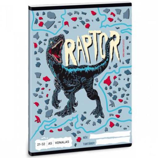 Ars Una - Raptor vonalas füzet - A/5