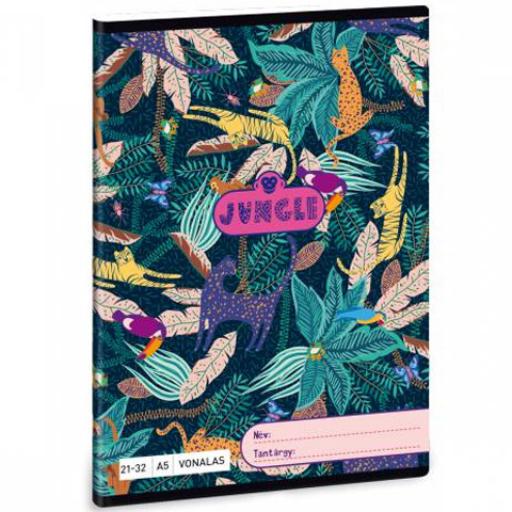 Ars Una - Jungle vonalas füzet - A/5