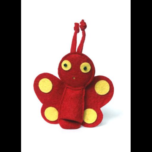Ujjbáb - Lepke (piros)