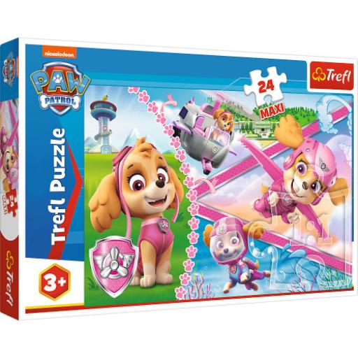 Trefl - Mancs őrjárat: Hősies Skye puzzle - maxi - 24db-os