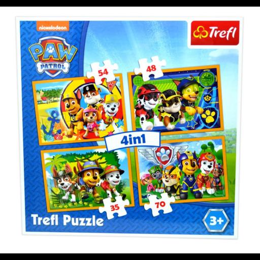 Trefl - Mancs őrjárat - Mindig időben 4 az 1-ben puzzle