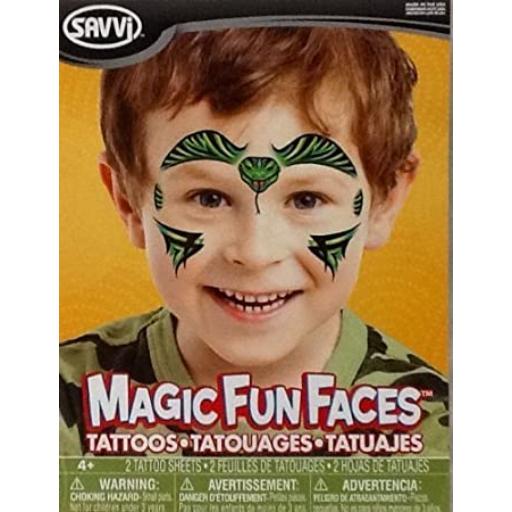 Gyermek arctetoválás - többféle