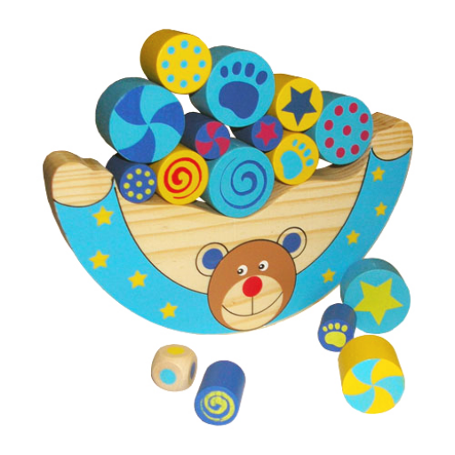 Fajáték - Egyensúlyozó játék - macis