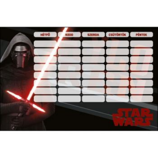 Star Wars - Órarend 220x150mm
