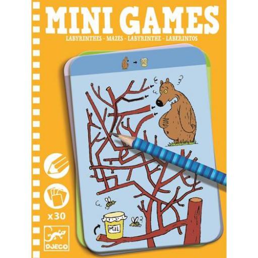 Djeco - Mini játékok - Útvesztők