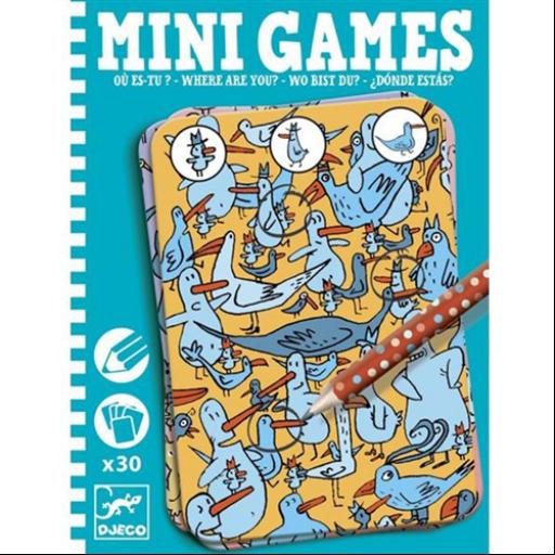 Djeco - Mini játékok - Hol bujkál?