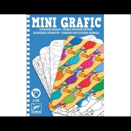Djeco - Mini grafika - Animal colouring pictures