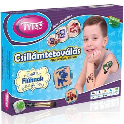TyToo - Fiús kicsi csillámtetoválás szett