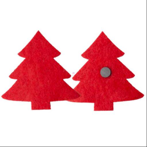 Karácsonyfa hűtőmágnes - piros