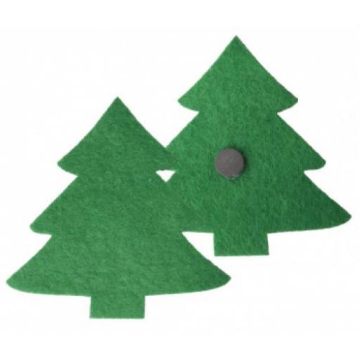 Karácsonyfa hűtőmágnes - zöld