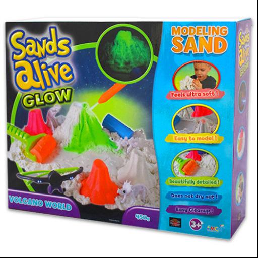 Sands Alive - Világító Vulkán készlet