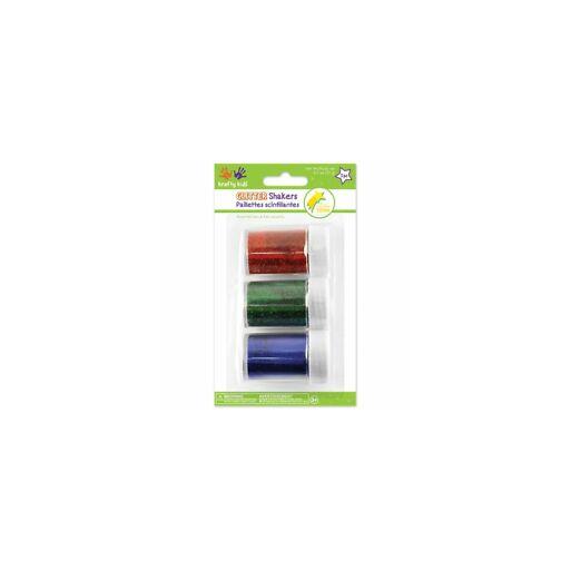 3 csillámpor tartályban - Piros/Zöld/Kék