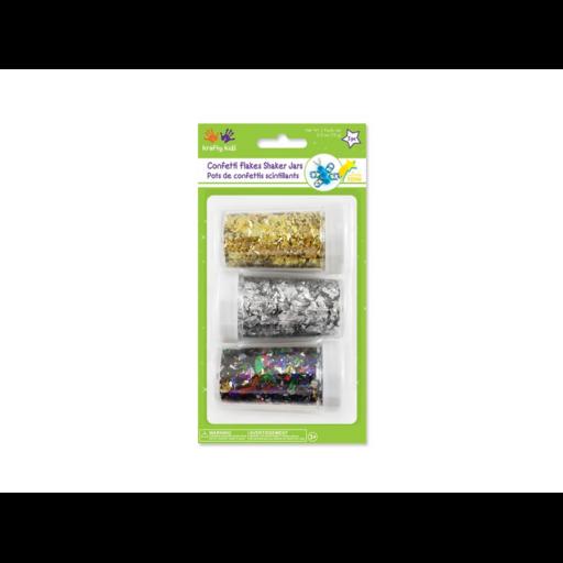 Csillogó konfetti tartályban - arany/ezüst/színes