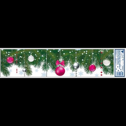 Karácsonyi zöld, mintás ablakdekoráció - többféle
