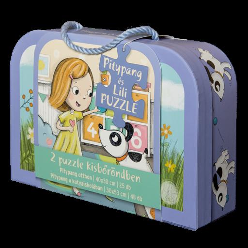 Pitypang és Lili - bőröndös puzzle