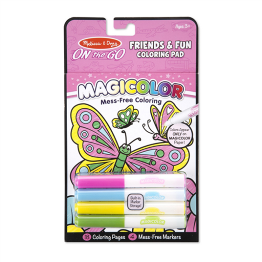 Melissa & Doug - Mágikus színező füzet, barátok és móka