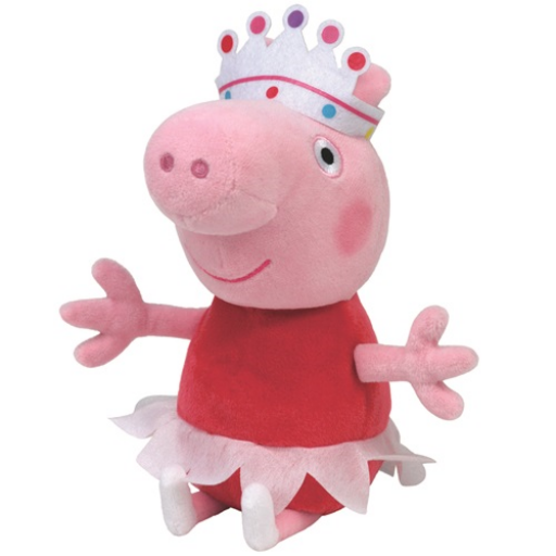 Peppa malac plüss figura - 15 cm - Peppa balerina