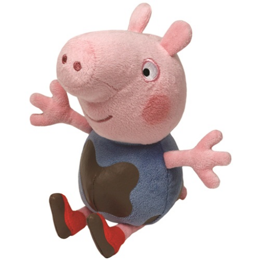 Peppa malac plüss figura - 15 cm - George sármalac