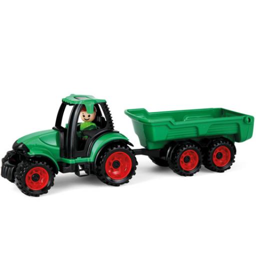 Lena - Truckies traktor utánfutóval és figurával - 36 cm
