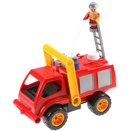 Lena - Tűzoltóautó vízpumpával és figurával - 31 cm