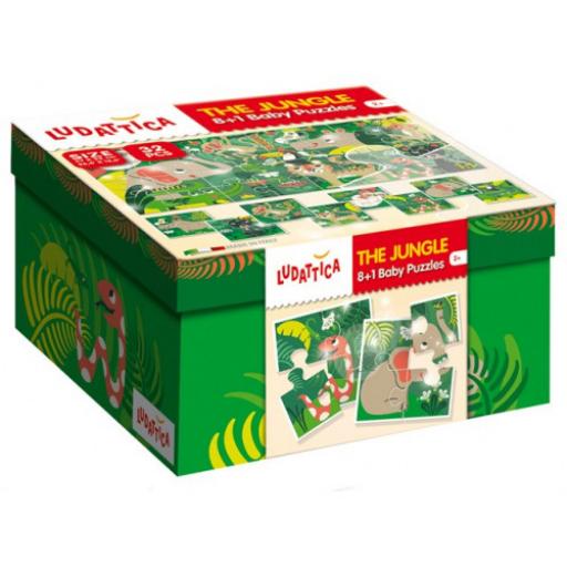 Ludattica - 8+1 puzzle - A dzsungel